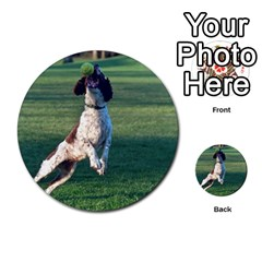 English Springer Catching Ball Multi-purpose Cards (Round)