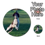 English Springer Catching Ball Multi-purpose Cards (Round)  Front 1