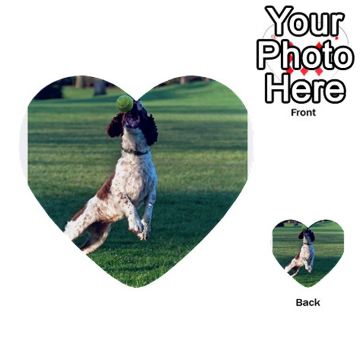 English Springer Catching Ball Multi-purpose Cards (Heart)