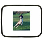 English Springer Catching Ball Netbook Case (Large) Front