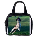 English Springer Catching Ball Classic Handbags (One Side) Front
