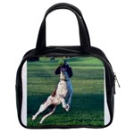 English Springer Catching Ball Classic Handbags (2 Sides) Front