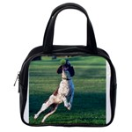 English Springer Catching Ball Classic Handbags (2 Sides) Back