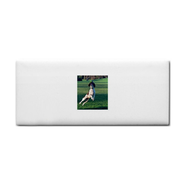 English Springer Catching Ball Hand Towel