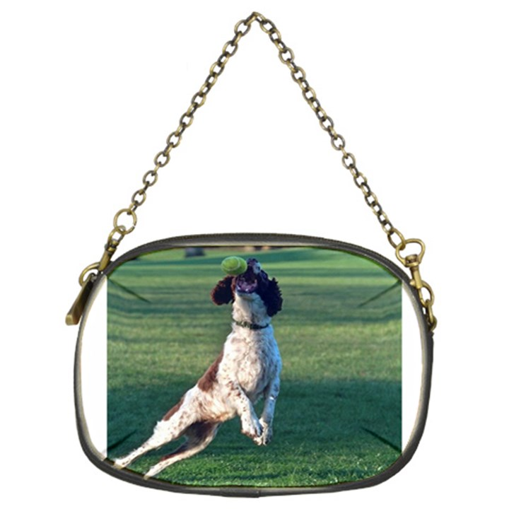 English Springer Catching Ball Chain Purses (Two Sides)