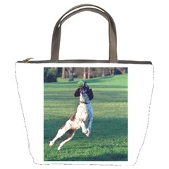 English Springer Catching Ball Bucket Bags