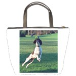 English Springer Catching Ball Bucket Bags Back