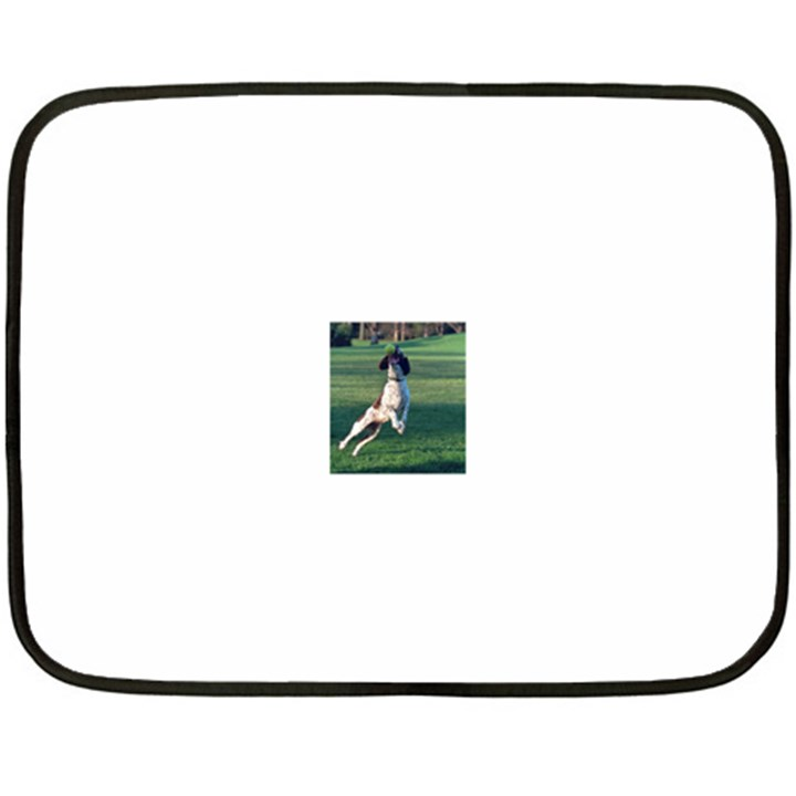 English Springer Catching Ball Fleece Blanket (Mini)