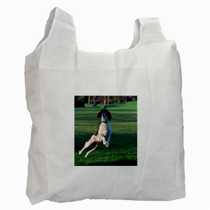 English Springer Catching Ball Recycle Bag (One Side)