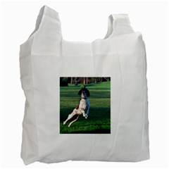 English Springer Catching Ball Recycle Bag (Two Side)