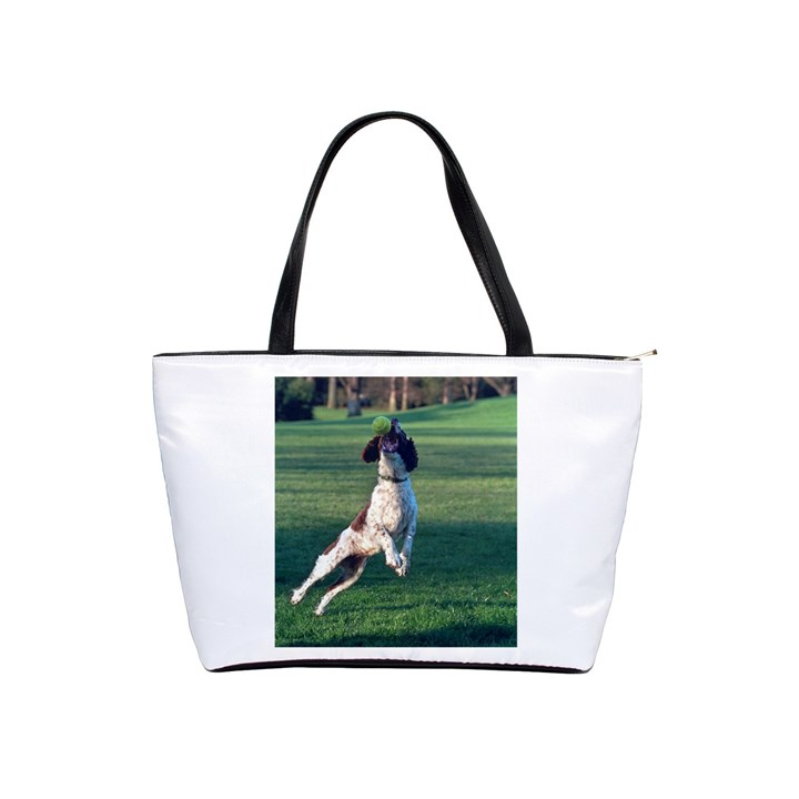 English Springer Catching Ball Shoulder Handbags