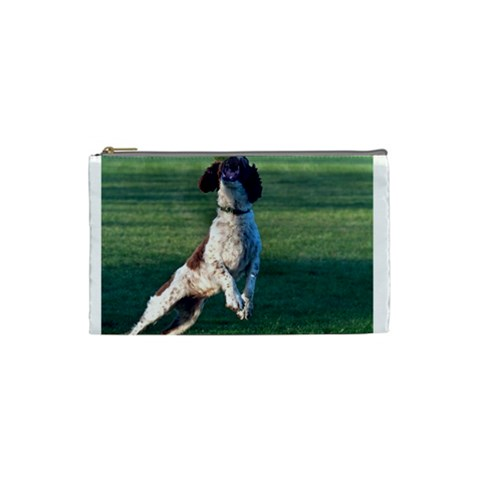 English Springer Catching Ball Cosmetic Bag (Small)