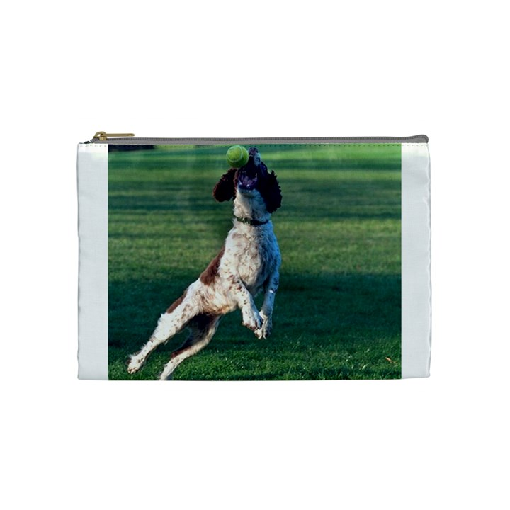 English Springer Catching Ball Cosmetic Bag (Medium)