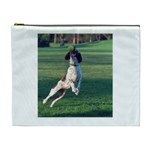 English Springer Catching Ball Cosmetic Bag (XL) Front