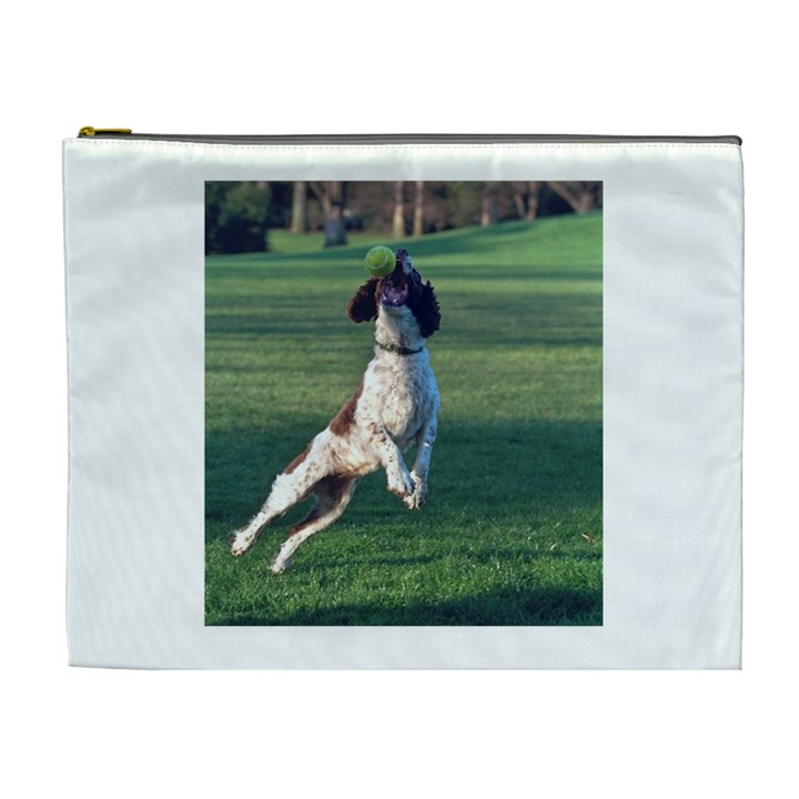 English Springer Catching Ball Cosmetic Bag (XL)