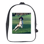 English Springer Catching Ball School Bags(Large)  Front