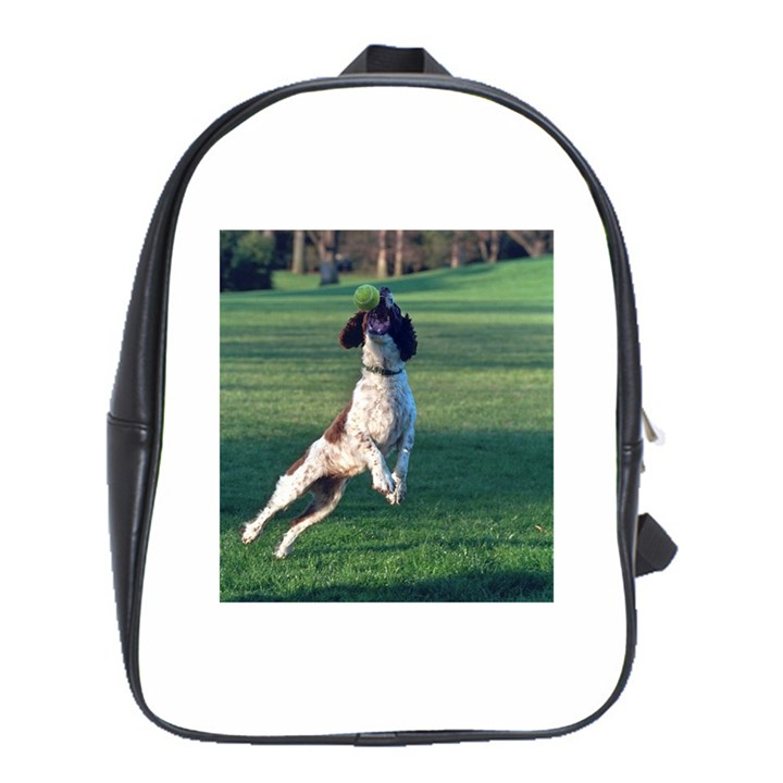 English Springer Catching Ball School Bags(Large)