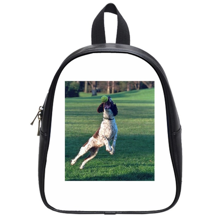 English Springer Catching Ball School Bags (Small)