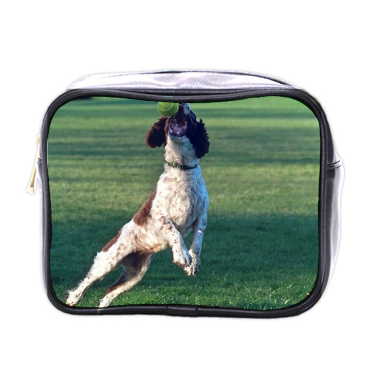 English Springer Catching Ball Mini Toiletries Bags