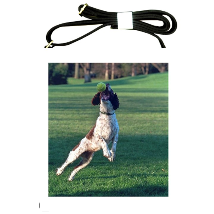English Springer Catching Ball Shoulder Sling Bags