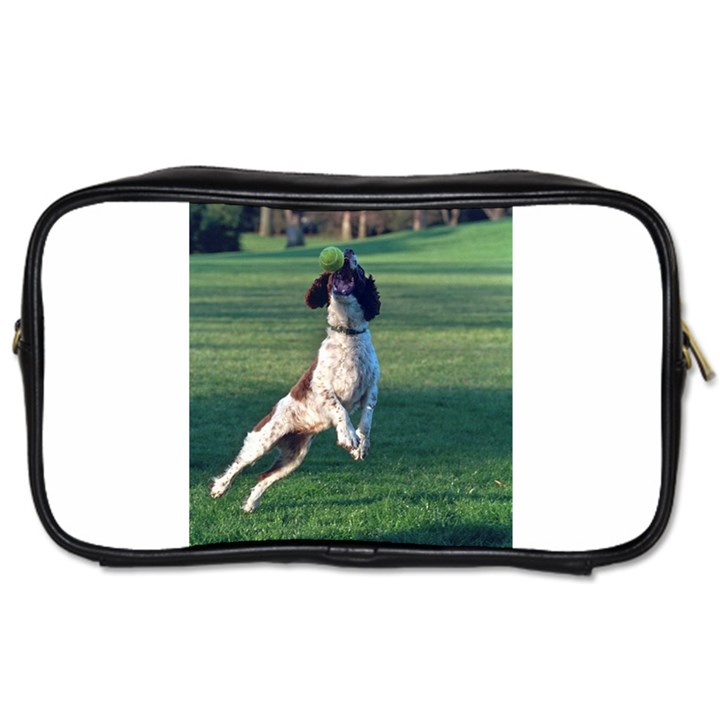 English Springer Catching Ball Toiletries Bags