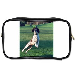 English Springer Catching Ball Toiletries Bags 2-Side