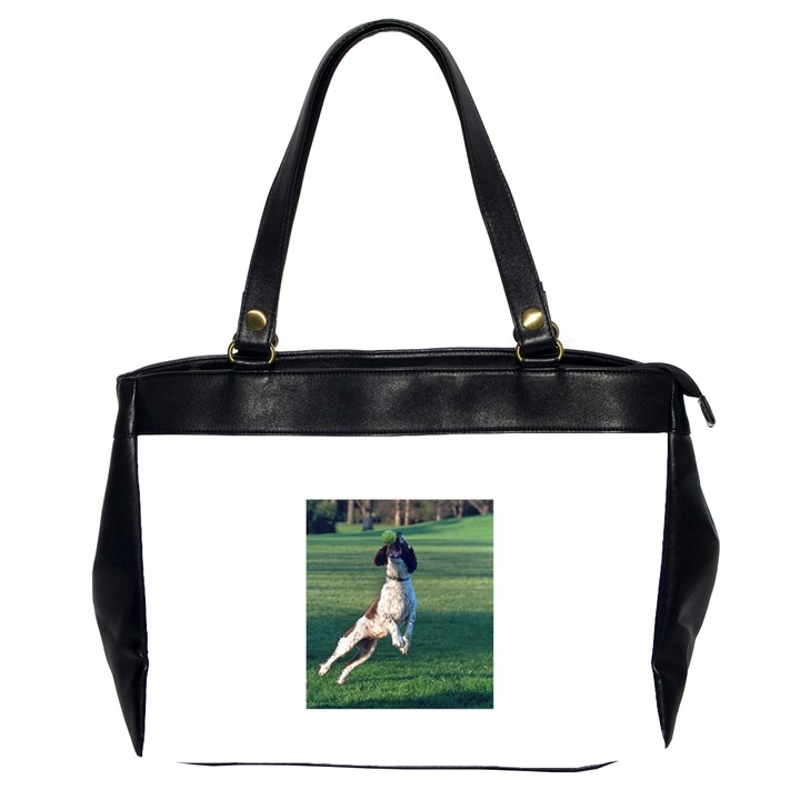 English Springer Catching Ball Office Handbags (2 Sides)