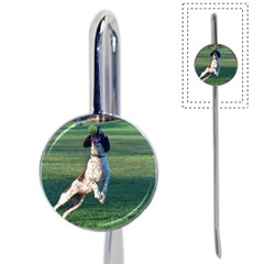English Springer Catching Ball Book Mark