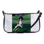 English Springer Catching Ball Shoulder Clutch Bags Front