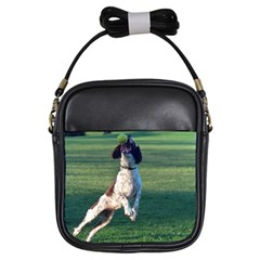 English Springer Catching Ball Girls Sling Bags