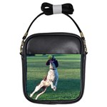 English Springer Catching Ball Girls Sling Bags Front