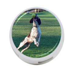 English Springer Catching Ball 4-Port USB Hub (Two Sides)