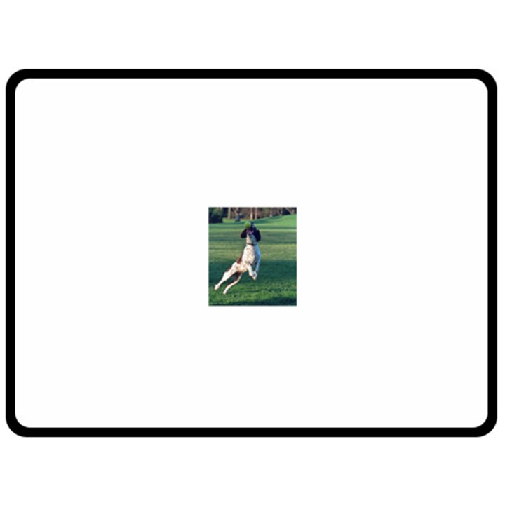 English Springer Catching Ball Fleece Blanket (Large)