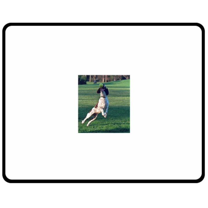 English Springer Catching Ball Fleece Blanket (Medium)