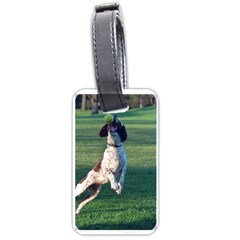 English Springer Catching Ball Luggage Tags (Two Sides)