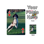 English Springer Catching Ball Playing Cards 54 (Mini)  Front - Heart6