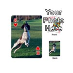 English Springer Catching Ball Playing Cards 54 (Mini)  Front - HeartK