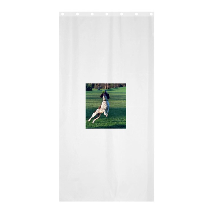English Springer Catching Ball Shower Curtain 36  x 72  (Stall)