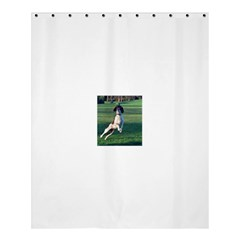 English Springer Catching Ball Shower Curtain 60  x 72  (Medium)