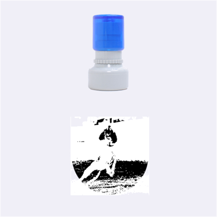English Springer Catching Ball Rubber Round Stamps (Small)