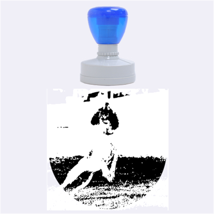 English Springer Catching Ball Rubber Round Stamps (Large)
