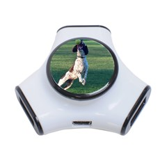 English Springer Catching Ball 3-Port USB Hub