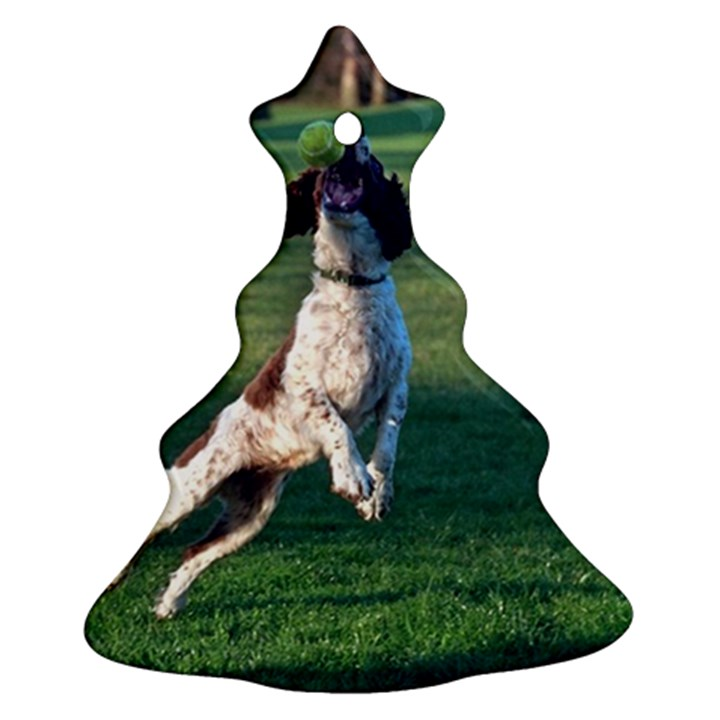 English Springer Catching Ball Christmas Tree Ornament (2 Sides)