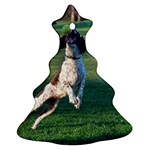English Springer Catching Ball Christmas Tree Ornament (2 Sides) Back