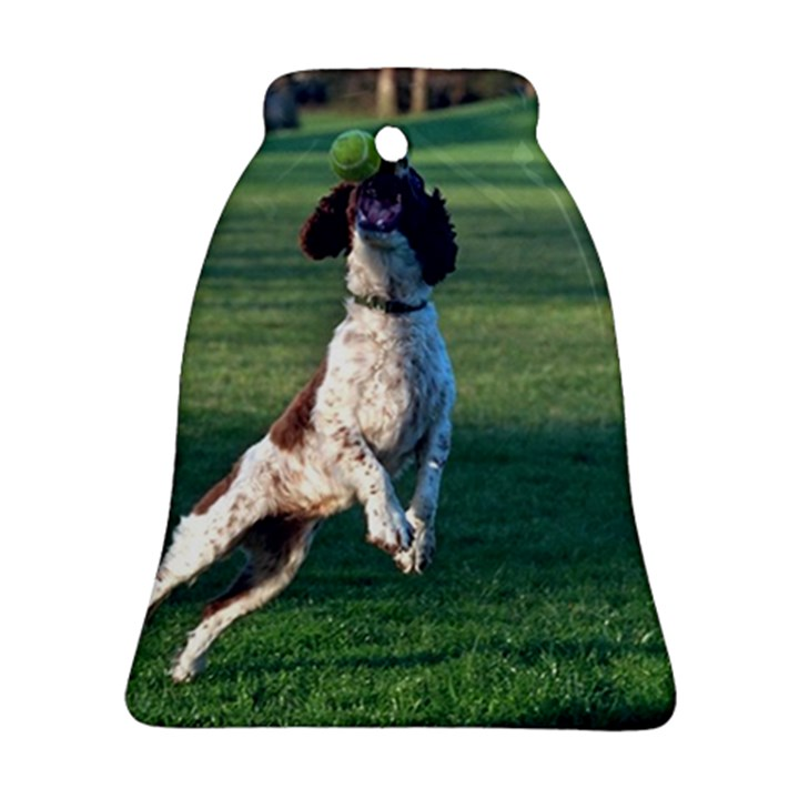English Springer Catching Ball Bell Ornament (2 Sides)