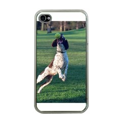 English Springer Catching Ball Apple iPhone 4 Case (Clear)