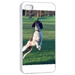 English Springer Catching Ball Apple iPhone 4/4s Seamless Case (White)