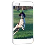 English Springer Catching Ball Apple iPhone 4/4s Seamless Case (White) Front