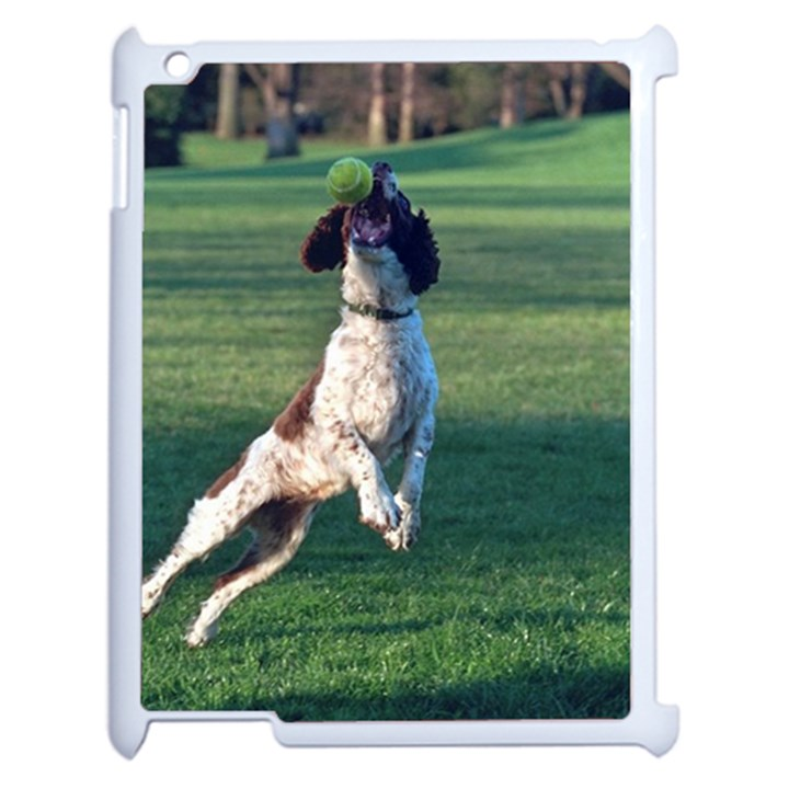 English Springer Catching Ball Apple iPad 2 Case (White)