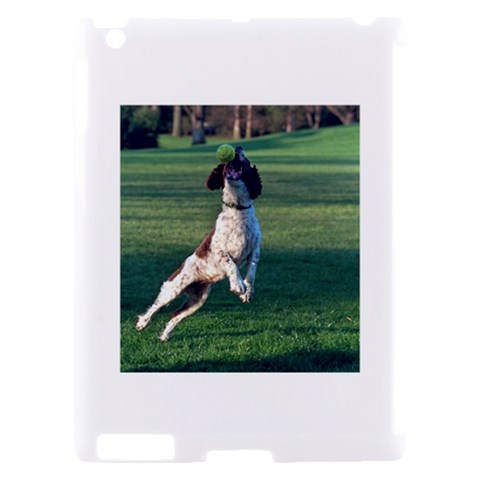 English Springer Catching Ball Apple iPad 2 Hardshell Case (Compatible with Smart Cover)